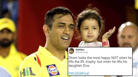 IPL 2018: Twitterati are in love with MS Dhoni's interaction with daughter Ziva after the win