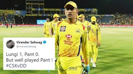 IPL 2018: Sehwag leads the pack celebrating CSK's win over DD with hilarious 'Lungi vs Pant' puns