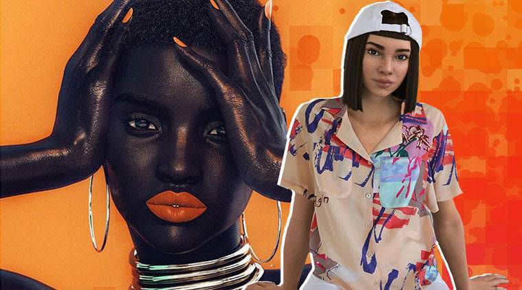 Shudu Gram, Shudu Gram digital model, Miquela Sousa, Miquela Sousa robot, robotic model, fashion influencer Miquela Sousa, virtual models, virtual fashion influencers, indian express, indian express news