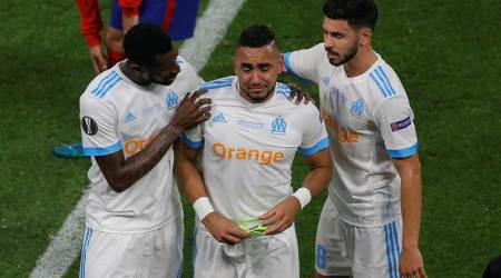 Europa League: Marseille's hopes dented when Dimitri Payet limped offinjured
