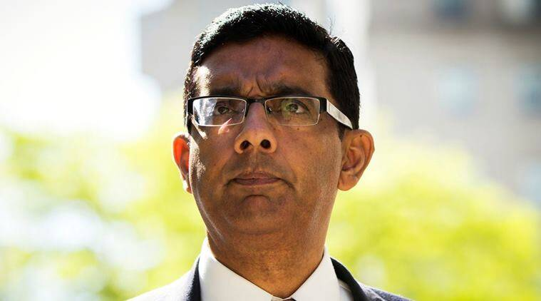 dinesh dsouza, who is dinesh dsouza, donald trump pardons dinesh dsouza, what did dinesh d'souza do, indian express