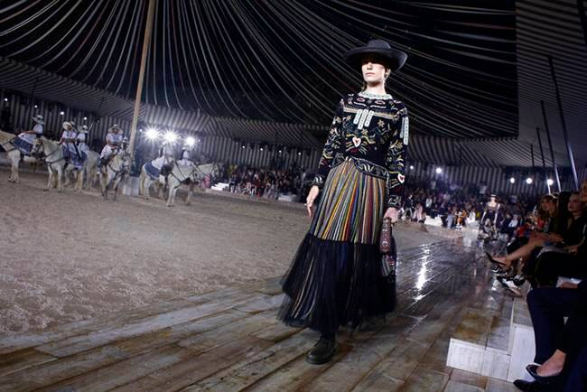 Dior equestrian collection, dior latest collection, dior fashion show Paris, dior horse fashion, dior cowgirl fashion, dior fashon show, indian express, indian express news