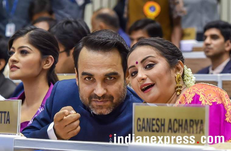 Divya Dutta with Pankaj Tripathi at National Film Awards 2018