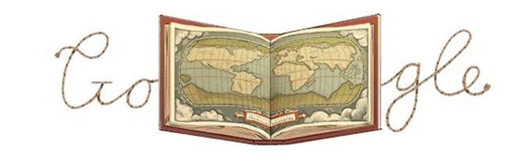 Google doodle celebrates the creation of modern day atlas by
