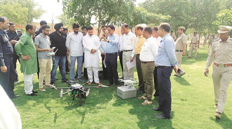 The drones were launched by Haryana PWD minister Rao Narbir Singh at Butterfly Park.