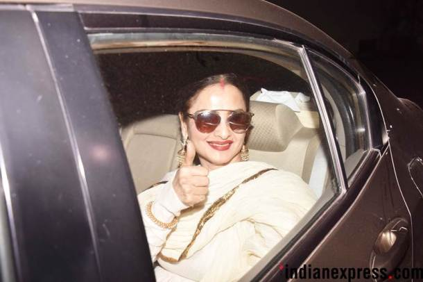 rekha at raazi screening