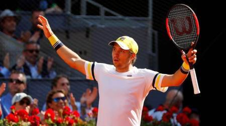 Dusan Lajovic downs Juan Martin del Potro in Madrid as Kyle Edmund maintains progress