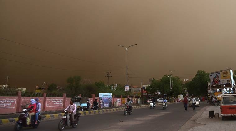 Dust storm Uttar Pradesh Rajasthan Rajasthan death toll UP death toll Thundershower UP Rainfall Agra deaths Rajasthan rainfall dust storm deaths dust storm deaths live updates indian express news