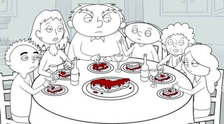 VIDEO: How do things unfold at a DYSFUNCTIONAL family's dinner table?