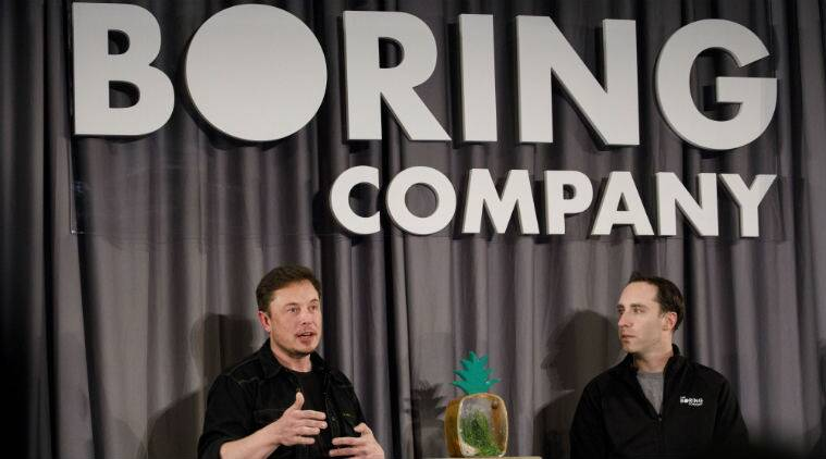 Elon Musk tunelling venture, Boring Co LA transport system, underground high-speed transport system, Los Angeles International Airport, Tesla CEO Musk, Musk flamethrowers sale, trabelling pods, electric boring