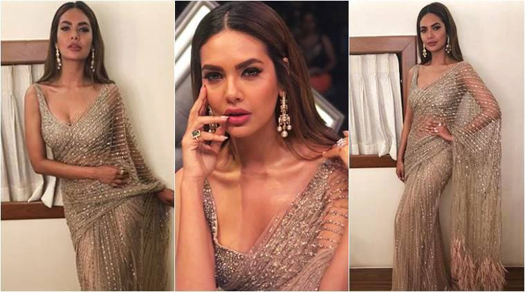 Esha Gupta, Esha Gupta latest photos, Esha Gupta fashion, Esha Gupta saris, Esha Gupta Falguni and Shane Peacock, Esha Gupta ethnic fashion, Esha Gupta western fashion, indian express, indian express news