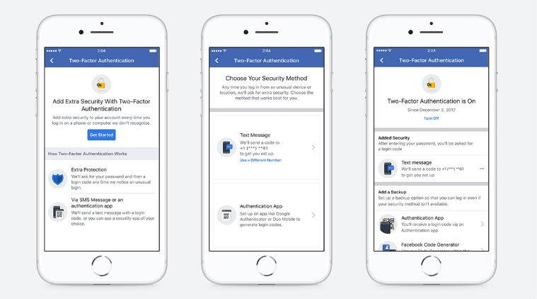 Facebook, Facebook two factor authentication, third party apps, Facebook authentication system, data privacy, Google Authenticator, Facebook accounts, Duo Security, one time passwords