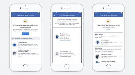 Facebook modifies two-factor authentication; adds support for third-party apps