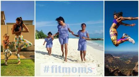 Mother's Day, mothers day in india, mothers day 2018, Mother's day healthy gifts, Sushmita Sen daughter workout, fit moms, mom's health, mom's fitness, moms working out with kids, Instagram fit moms, woman fitness, fitness videos, indian express