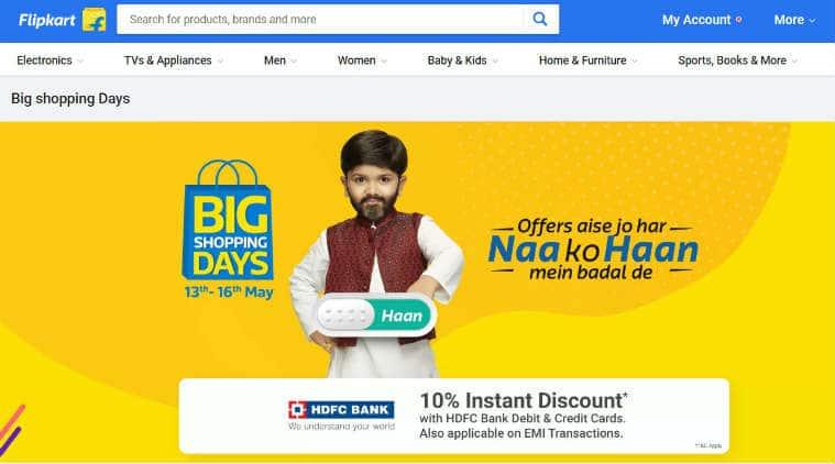 Flipkart Big Shopping Days Sale, Big Shopping Days Sales offers, Flipkart sale discounts, Google Pixel 2 XL price, Flipkart EMI offers, Google Pixel 2 XL specifications, HDFC Bank Flipkart offers, Samsung Galaxy On Nxt price
