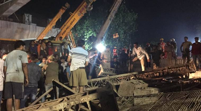 varanasi flyover collapse, up flyover collapse latest, varanasi bridge collapse, varanasi flyover collapse victims