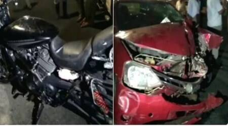Harley Davidson rider falls in Yamuna after being hit by car on DND flyway, missing