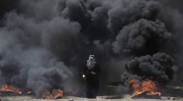 Israel targets Hamas position after army post torched