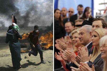 In Pictures: More than 57 Palestinians killed at Gaza border as US embassy opens in Jerusalem