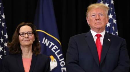 Donald Trump praises Gina Haspel as she takes over at CIA