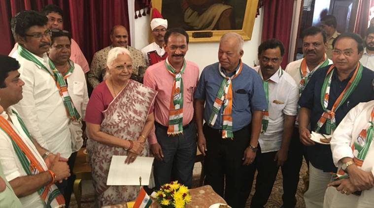 Karnataka election fallout: Goa Congress MLAs meet Governor Mridula Sinha