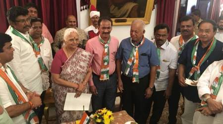 Karnataka fallout: Congress in Goa & Manipur, RJD in Bihar meet Governors to stake claim to formgovt