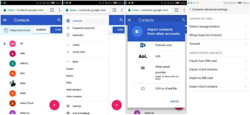 How to transfer contacts and photos from an Android phone to