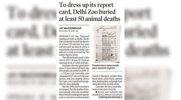 The Indian Express report dated May 23.