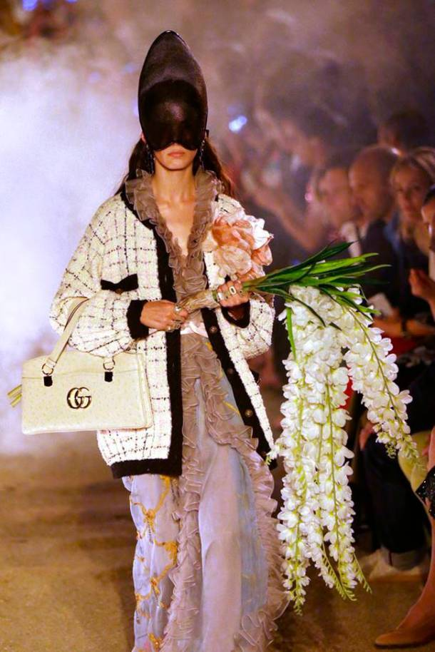 Gucci cruise show, Gucci resort 2019 collection, Gucci latest collection, Gucci fashion show, Gucci graveyard fashion show, indian express, indian express news