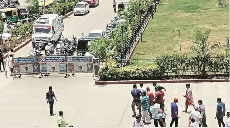 Gujarat: Barricades halt ambulance entry, cop loses life on court premises