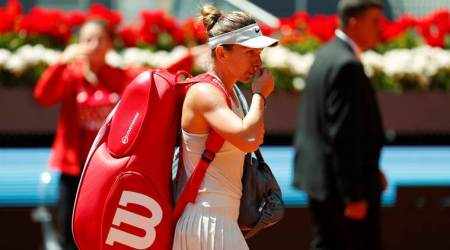 Karolina Pliskova ends Simona Halep's Madrid hat-trick bid, Maria Sharapovaout