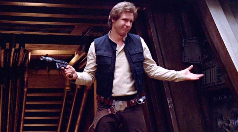 han solo played by harrison ford