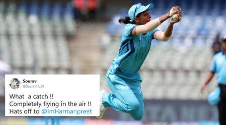IPL Women's T20 Challenge: 'Supergirl' Harmanpreet Kaur's flying catch leaves Tweeple mesmerised