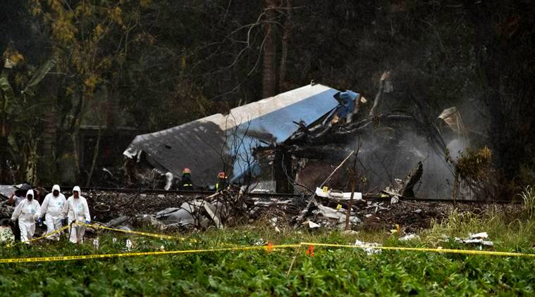 Cuba flight plane crash with 104 on board