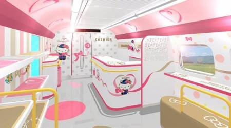 Get your dream ticket to ride on this Hello Kitty-themed bullet train in Japan