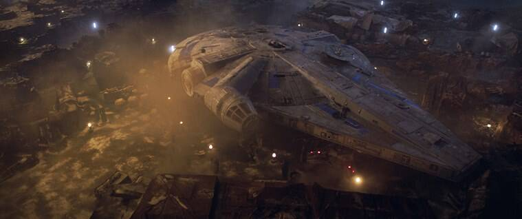 the Millenium Falcon in solo a star wars story