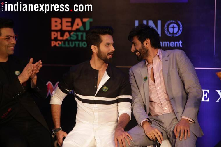 shahid kapoor, kartik aaryan at IIFA press conference