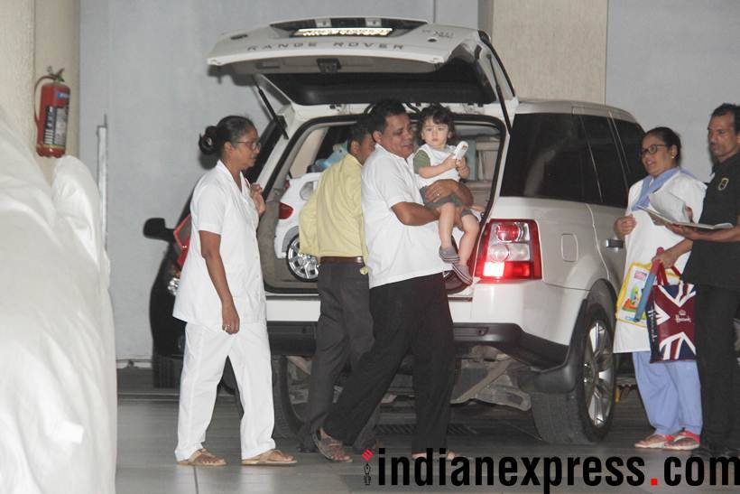 taimur ali khan at babita house