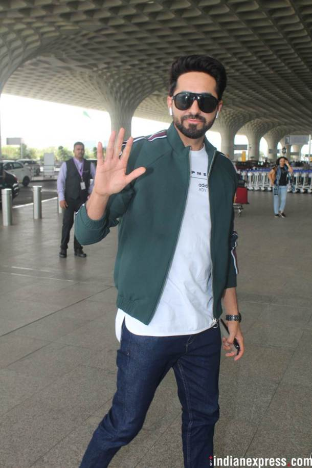 ayushmann khurrana at airport