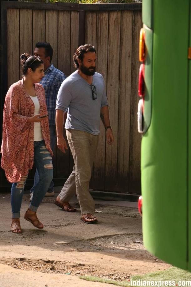 saif ali khan on film sets