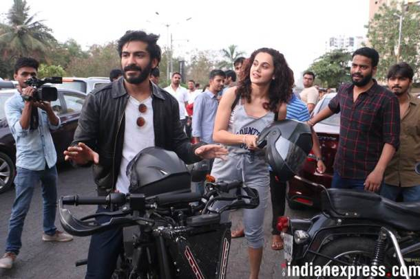 harshvardhan kapoor with taapsee pannu