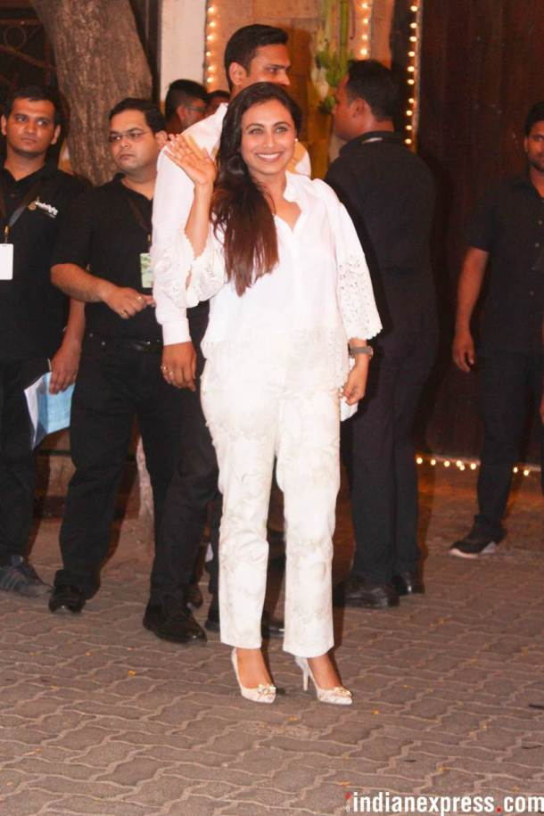 Rani Mukerji at Anil Kapoor house