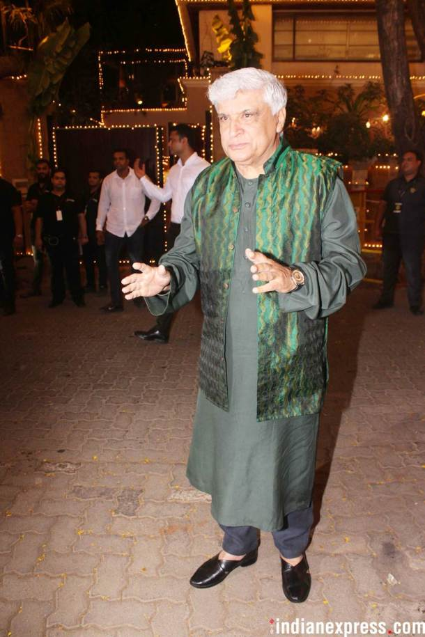 Javed Akhtar at sonam kapoor function