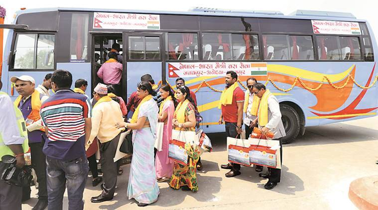 Janakpur-Ayodhya first bus: 'Journey easier, can come when we want'