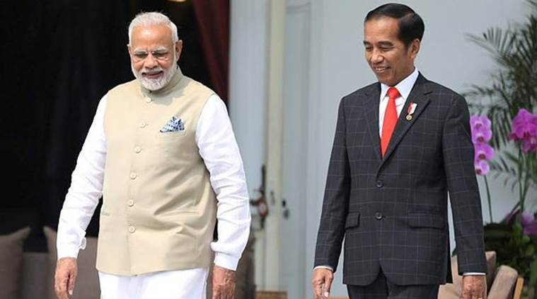 pm modi in indonesia live, modi indonesia visit, modi asean tour, asean nations, pm modi in indonesia, indonesia president Joko Widodo