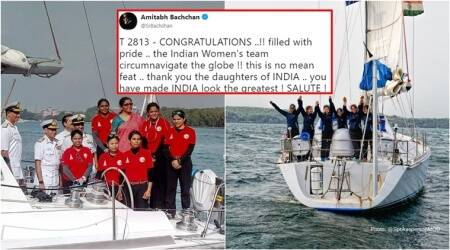 All-women crew of INSV Tarini returns; welcomed with heaps of praise on Twitter