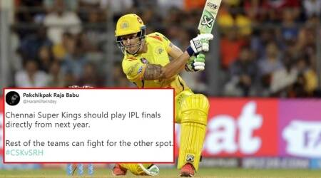 IPL 2018 SRH vs CSK: Twitterati all praise for Faf du Plessis for steering CSK to finals