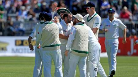 Pakistan recover after Ireland's early inroads in debut Test