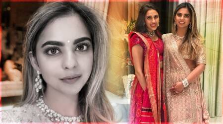 Isha Ambani engagement party: Mukesh Ambani's daughter picks a pastel pink Sabyasachi lehenga for the special moment