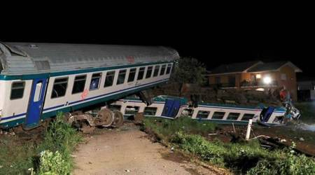 Train plows into truck stopped on tracks in Italy; twodead